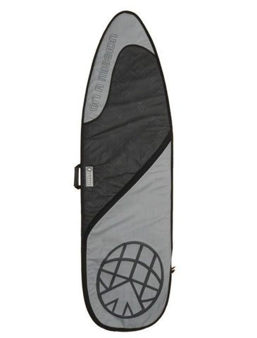 OAM On A Mission Day Mission Single Shortboard Surfboard Bag Black on Black - DriftingThru