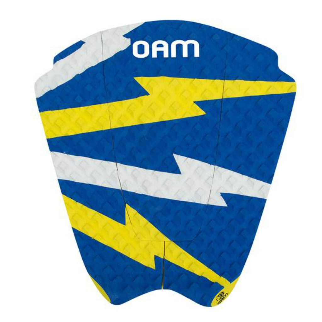 OAM On A Mission Taylor Knox Bolt Series Surf Traction Pad Blue