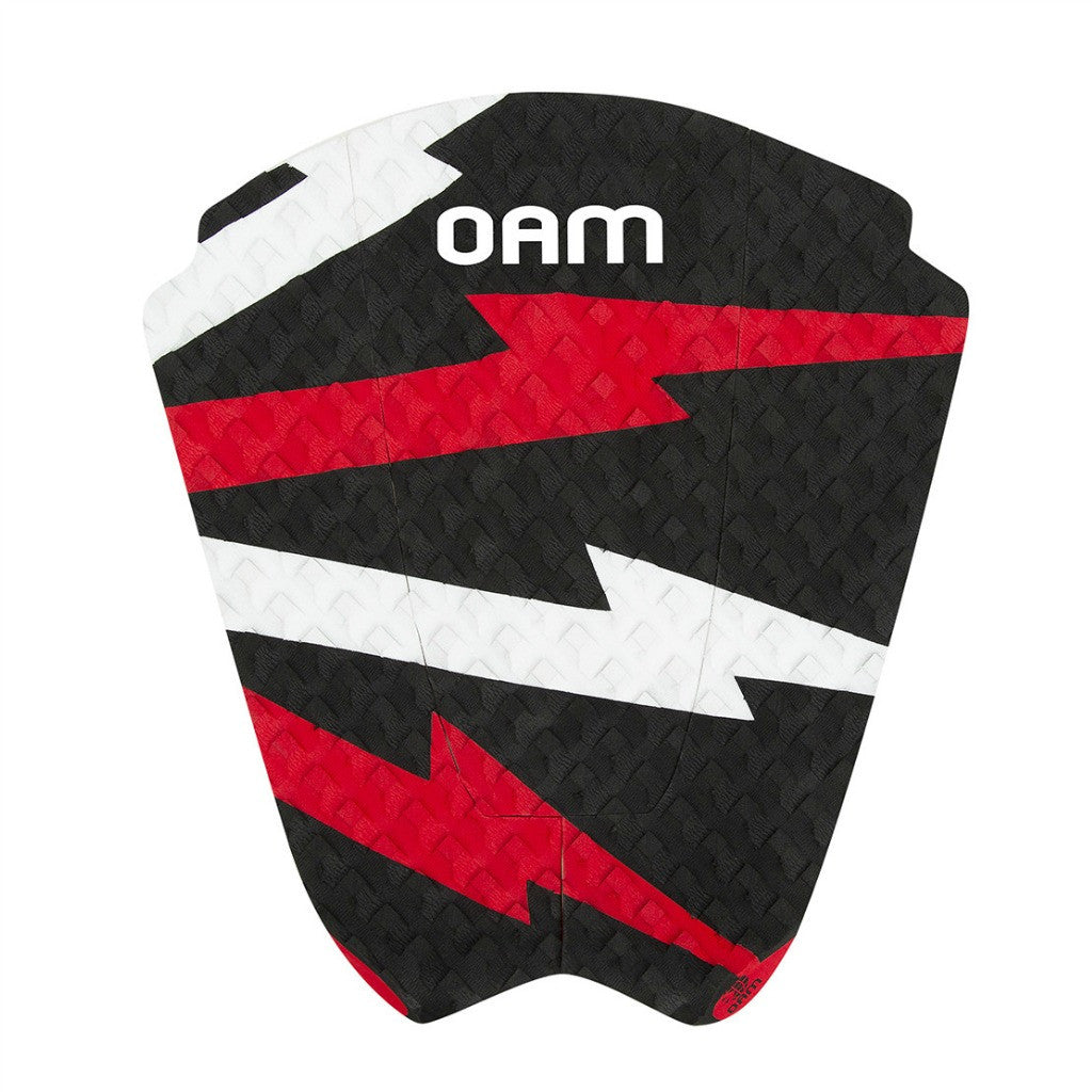 OAM On A Mission Taylor Knox Bolt Series Surf Traction Pad Red