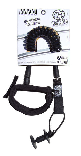 On A Mission Bodyboard Bicep Leash in Black - DriftingThru.com