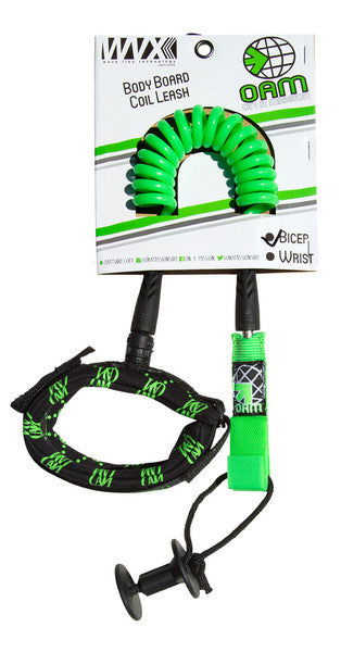 On A Mission Bodyboard Bicep Leash in Lime Green