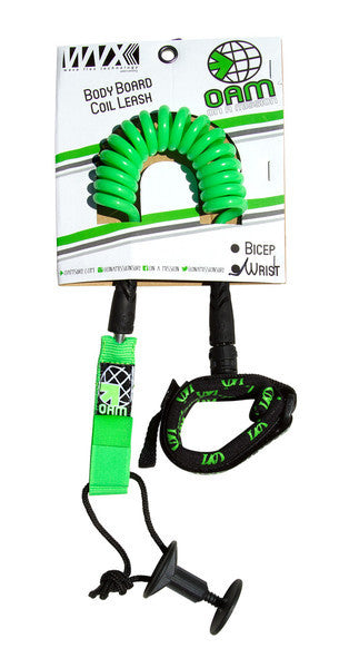 On A Mission Bodyboard Wrist Leash in Lime Green - DriftingThru.com
