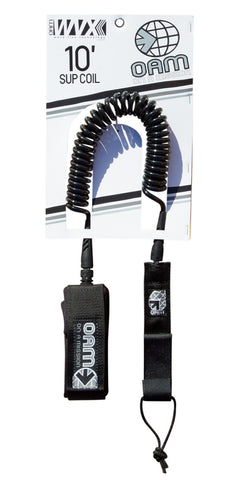 OAM On A Mission SUP Coil 10' Black Leash