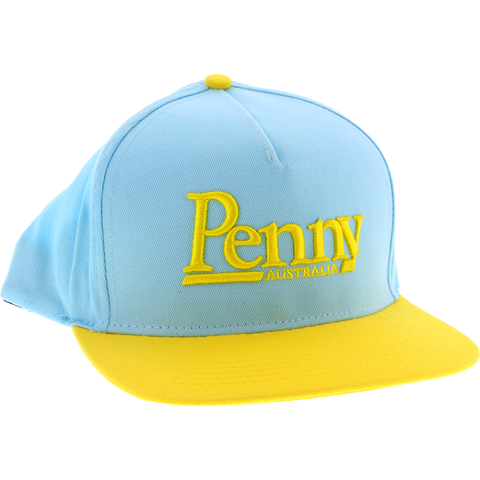 Penny Logo Adjustable Snap Back Hat Light Blue/Yellow