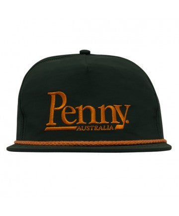 Penny Logo Adjustable Snapback Hat Forest Green/Orange