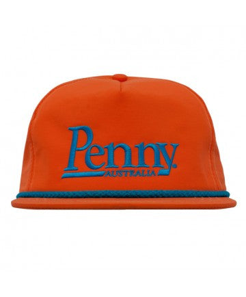 Penny Logo Adjustable Snapback Hat Orange/Blue