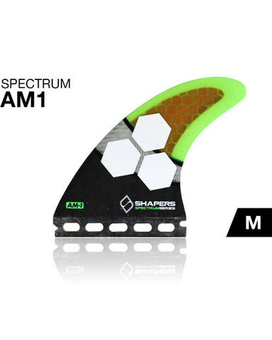 Shapers Fins AM1 Spectrum Futures Thruster Fin Set