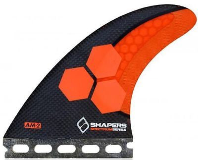 Shapers Fins AM2 Carbon Stealth Futures Thruster Fin Set
