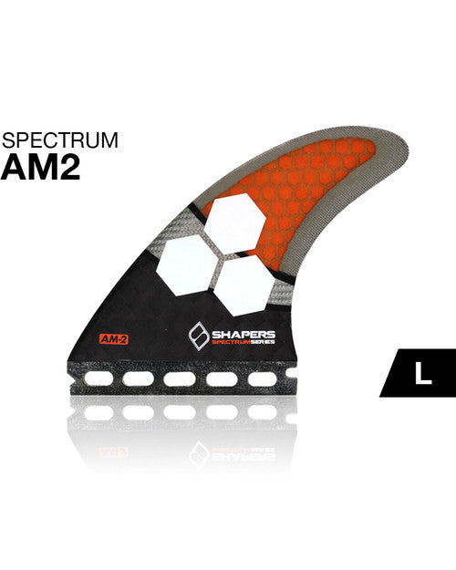Shapers Fins AM2 Spectrum Futures Thruster Fin Set