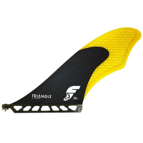 Future Fins Triangle Cutaway Med SUP Fin Yellow/Carbon