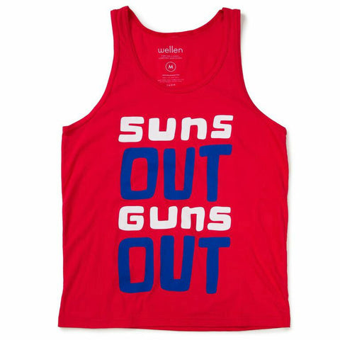 Wellen Suns Out Guns Out Tank Tops RED