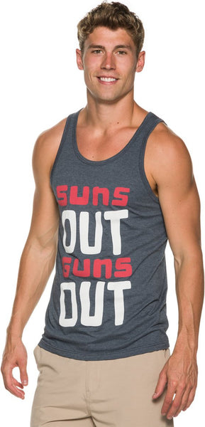 Wellen Suns Out Guns Out Tank Tops BLUE