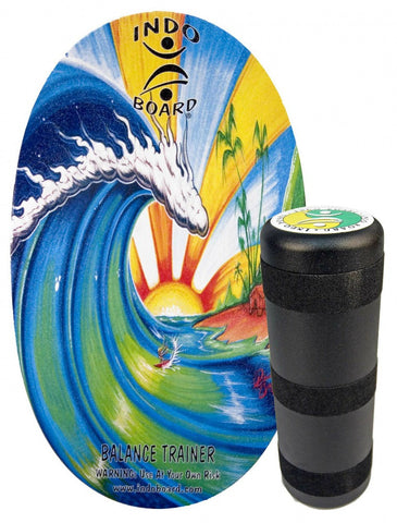Indo Board Original with Roller - Beach Design Balance Trainer