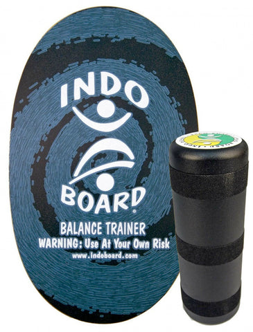 Indo Board Original with Roller - Blue Design Balance Trainer