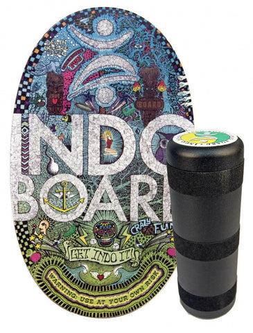 Indo Board Original with Roller - Doodles Design Balance Trainer