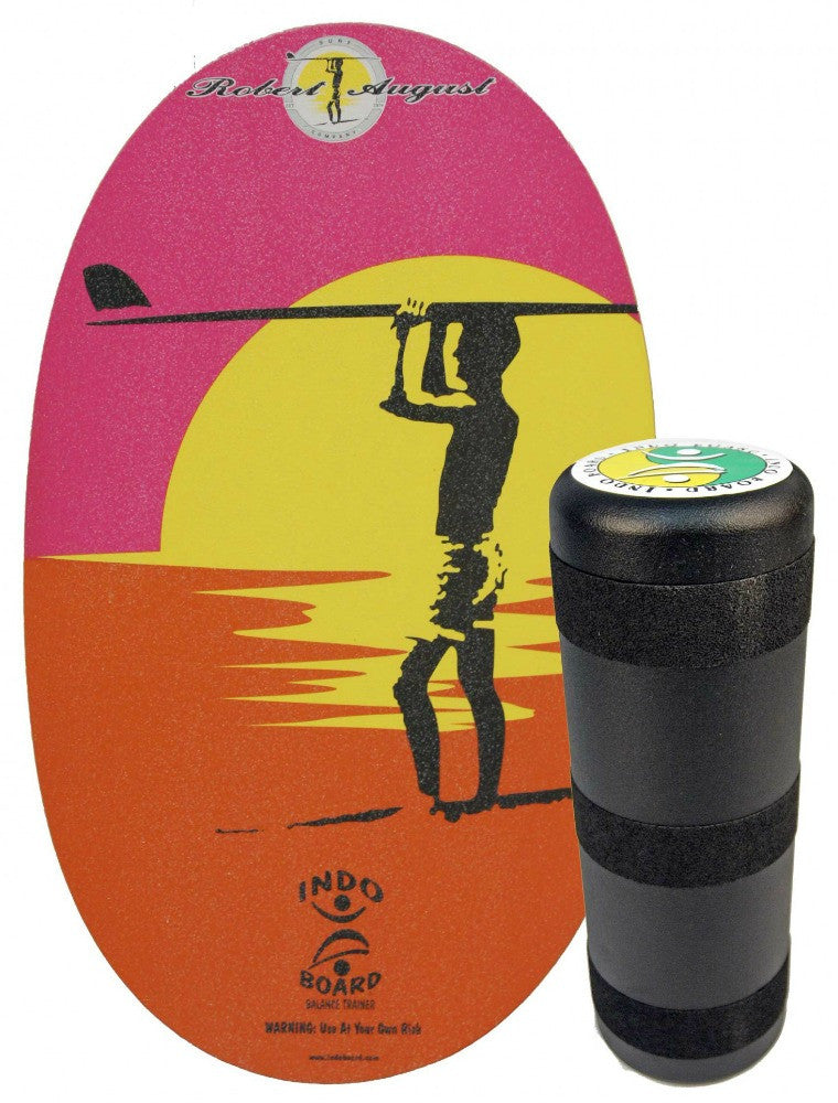 Indo Board Original with Roller - Robert Augus Endless Summer Design Balance Trainer
