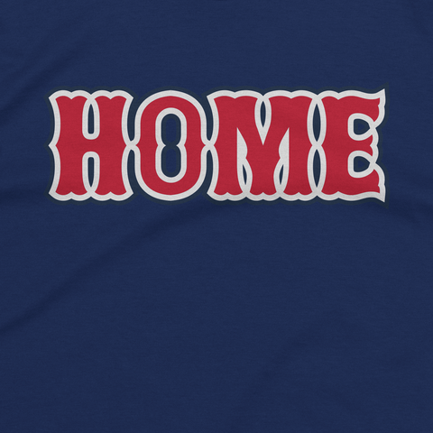 Navy Blue Boston Home Tee Design