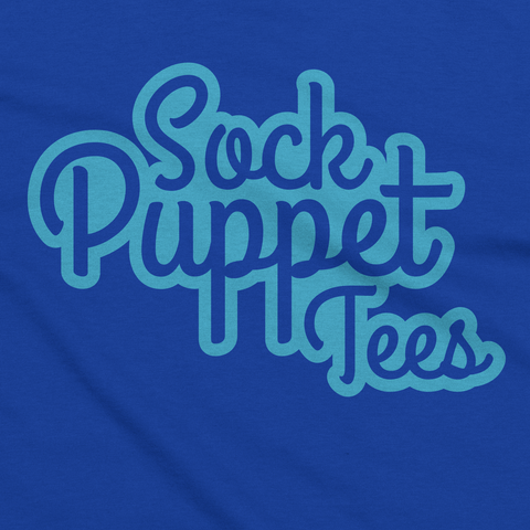 Royal Blue Sock Puppet Tees T-Shirt