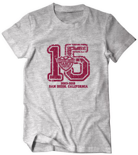 dance center 15th anniversary tee