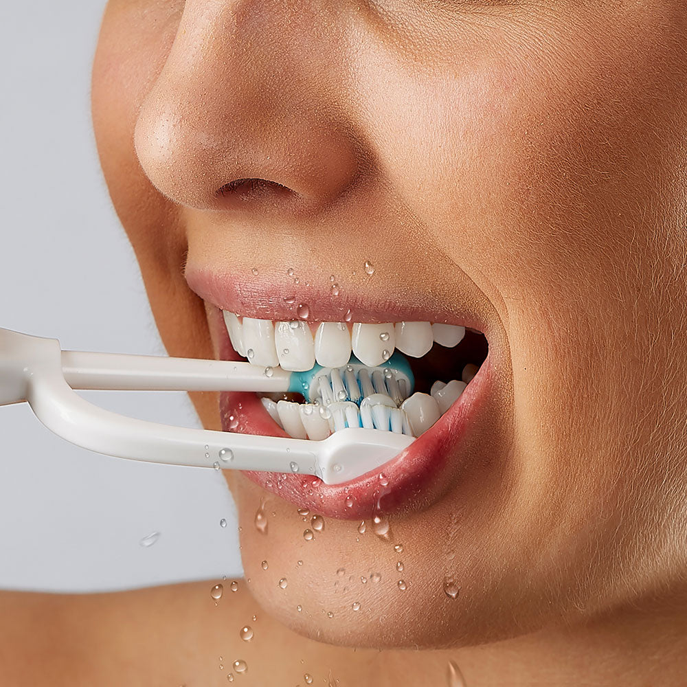 Brush two sides of your teeth at the same time, where your hygienist says your missing