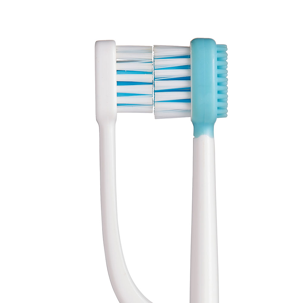 Dual-head toothbrush white, irrigating, water flossing