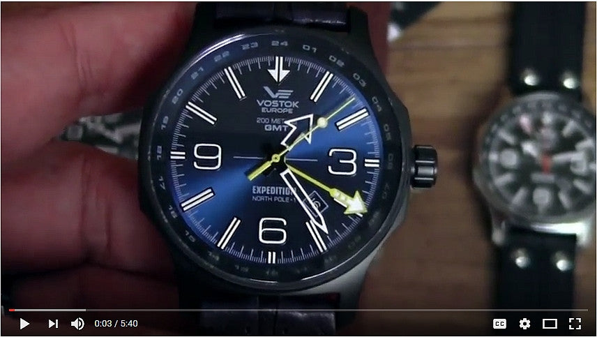 New Video about the Expedition North Pole 1 Dual Time Ronda GMT Models