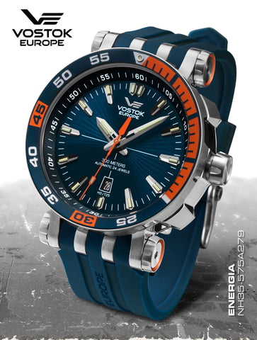 Vostok-Europe Energia 2 NH35-575A279 on silicon strap