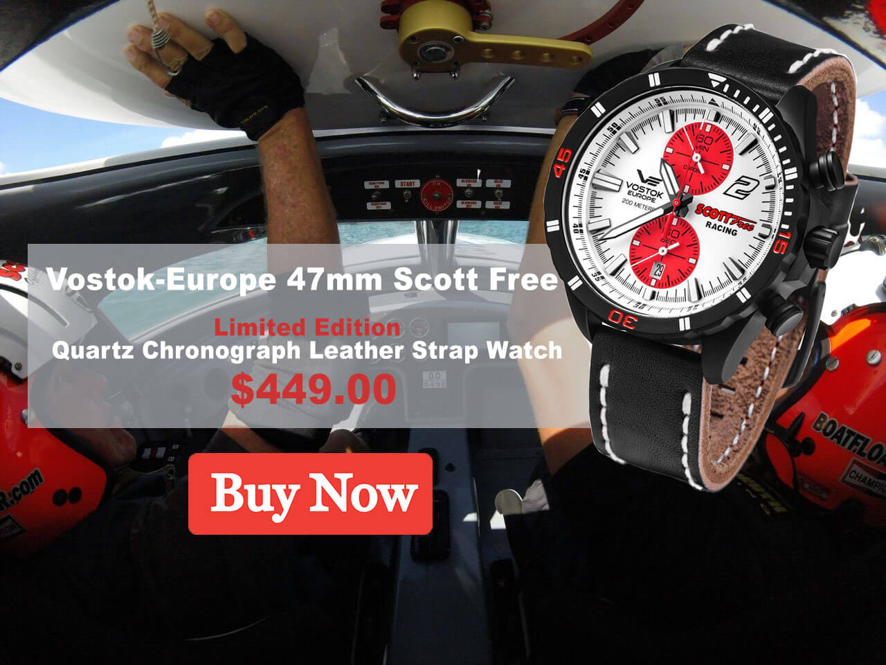 Scott Free Vostok Europe Watch Banner