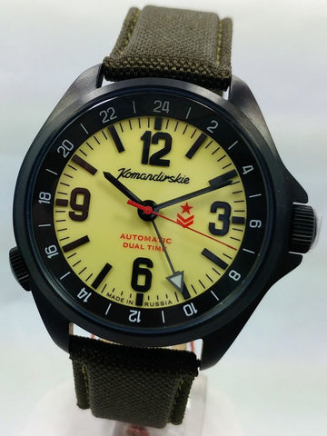 Vostok Komandirskie K-34 Automatic Watch 2426.01/476613 - Russia2all