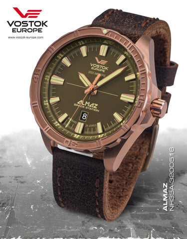 Vostok-Europe Almaz Automatic Leather Strap NH35/320O516