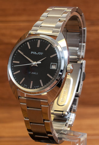 Poljot New Old Stock Bracelet and Leather Straps Watch - 2614-103BLACK.R - Russia2all