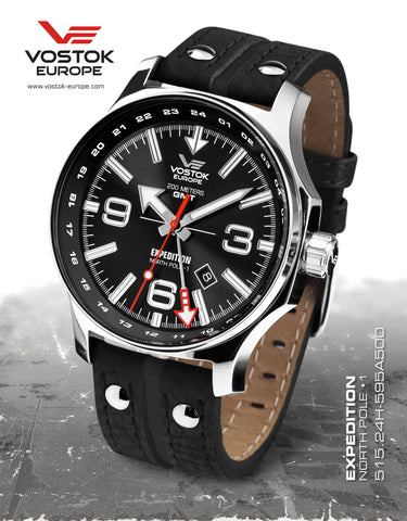 Vostok-Europe Expedition North Pole 1 - Dual Time 515.24H-595A500 - Russia2all
