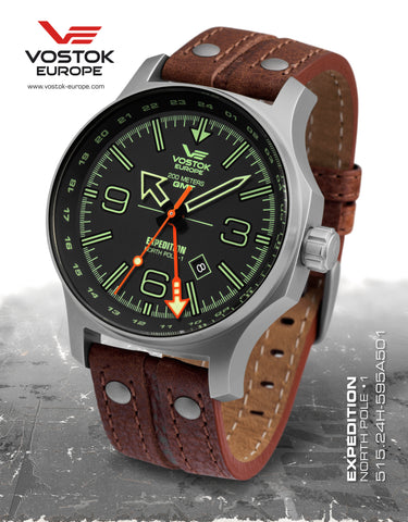 Vostok-Europe Expedition North Pole 1 - Dual Time 515.24H-595A501 - Russia2all