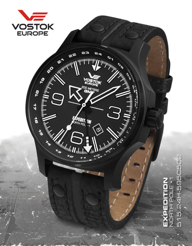 Vostok-Europe Expedition North Pole 1 - Dual Time 515.24H-595C502 - Russia2all