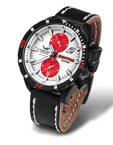 Vostok-Europe 47mm Scott Free Limited Edition Quartz Chronograph Leather Strap Watch - Russia2all
