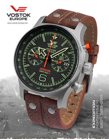 Vostok-Europe Expedition North Pole - 1 Watch Titanium (6S21/595H299)