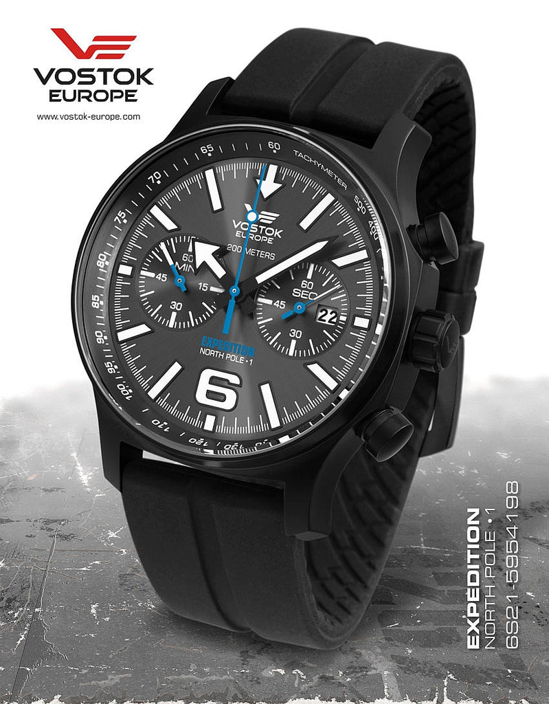 Vostok-Europe Expedition North Pole - 1 Watch (6S21/5954198S) - Russia2all