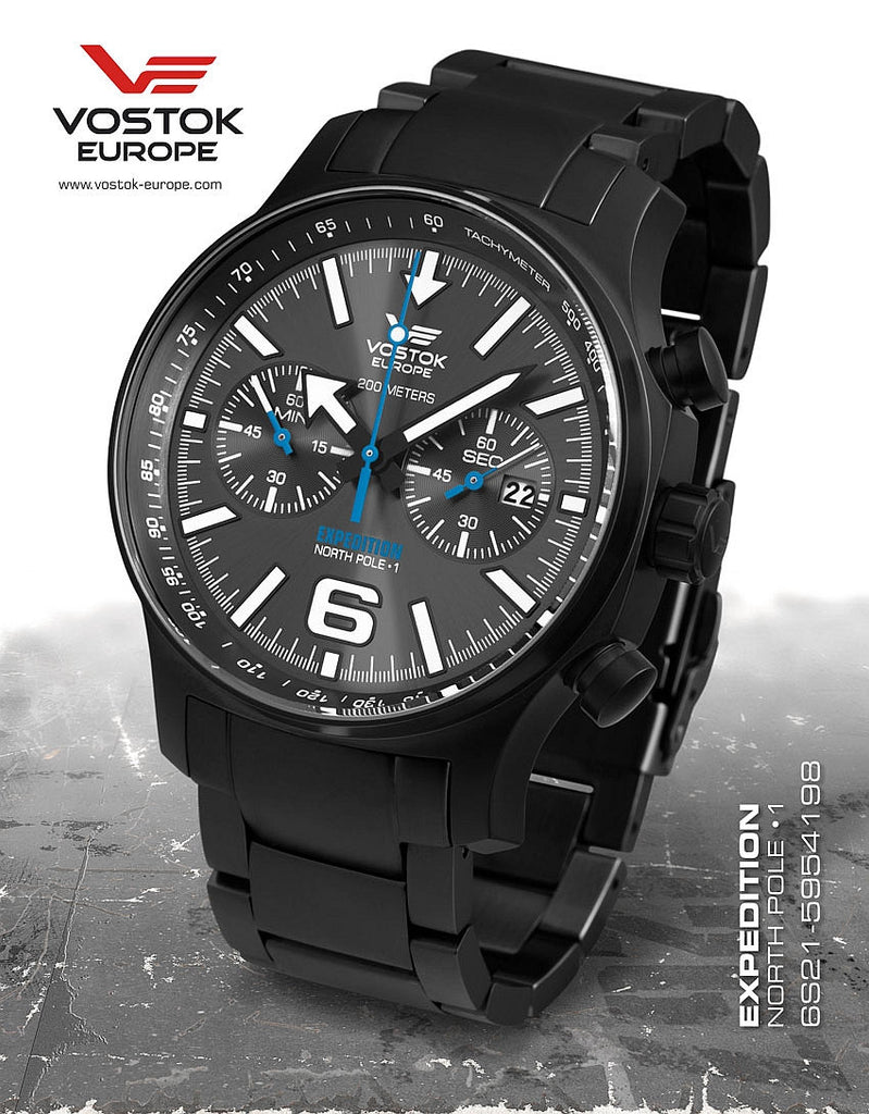 Vostok-Europe Expedition North Pole Watch 6S21/5954198B - Russia2all