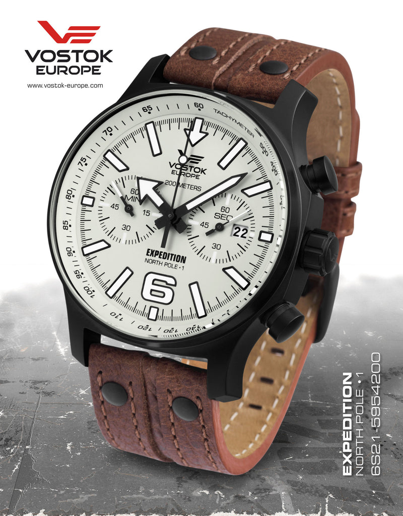 Vostok-Europe Expedition North Pole - 1 Watch (6S21/5954200) - Russia2all