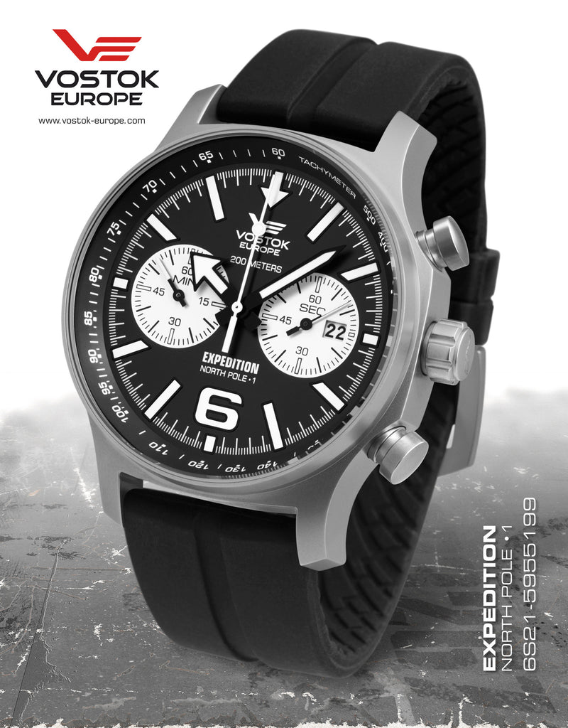 Vostok-Europe Expedition North Pole - 1 Watch  (6S21/5955199S) - Russia2all