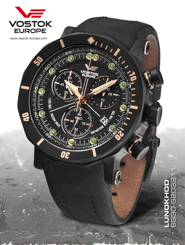 Vostok-Europe Lunokhod 2 Grand Chrono Tritium Tube Watch 6S30/6203211 - 1