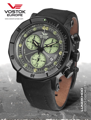Vostok-Europe Lunokhod 2 Grand Chrono Tritium Tube Watch 6S30/6204212 - 1