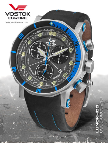 Vostok-Europe Lunokhod 2 Grand Chrono Tritium Tube Watch 6S30/6205213 - 1
