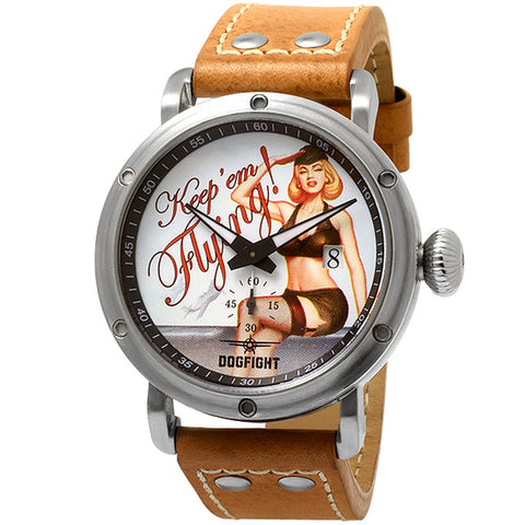 Dogfight Pinup World War II Vintage Style Watch DF0040