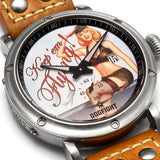 Dogfight Pinup World War II Vintage Style Watch DF0040 - Russia2all
