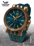 Vostok-Europe NH35-575O286-Energia-with-Blue-Silicon-strap