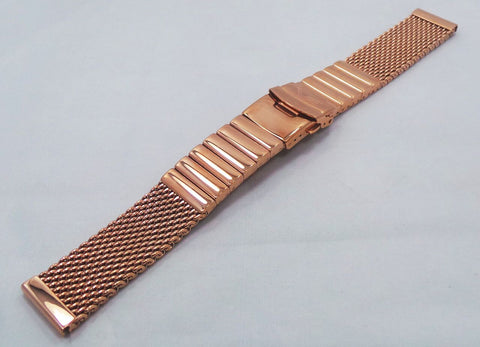 Vostok Europe Almaz Bracelet 22mm Mesh Rose Gold-Alm.22.B.R - Russia2all