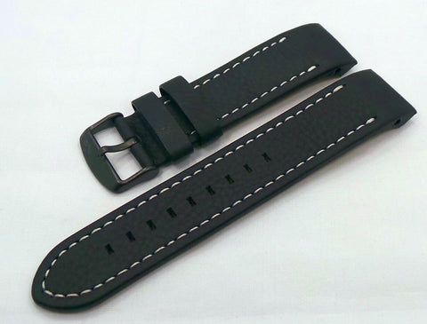 Vostok Europe Almaz Leather Strap 22mm Black/White-Alm.22.L.B.Bk.W - Russia2all