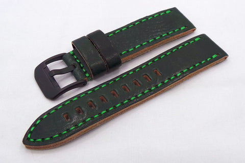 Vostok Europe Almaz Leather Strap 22mm Green/Green-Alm.22.L.B.G.G - Russia2all