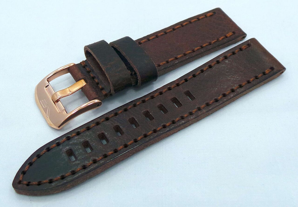 Vostok Europe Almaz Leather Strap 22mm Brown/Brown-Alm.22.L.R.Br.Br - Russia2all